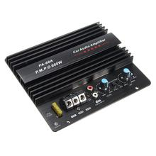 12V Mono 600W High Power Car Audio Amplifier PA-60A Fashion Wire Drawing Powerful Bass Subwoofers Amplifier With 20A Fuse(China)