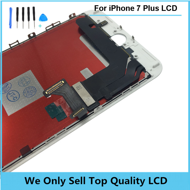 OEM Original LCD For iPhone 7 7Plus with Touch Glass Digitizer Assembly free shipping 3pcs/lot + Fidget Spinner + Tempered Glass