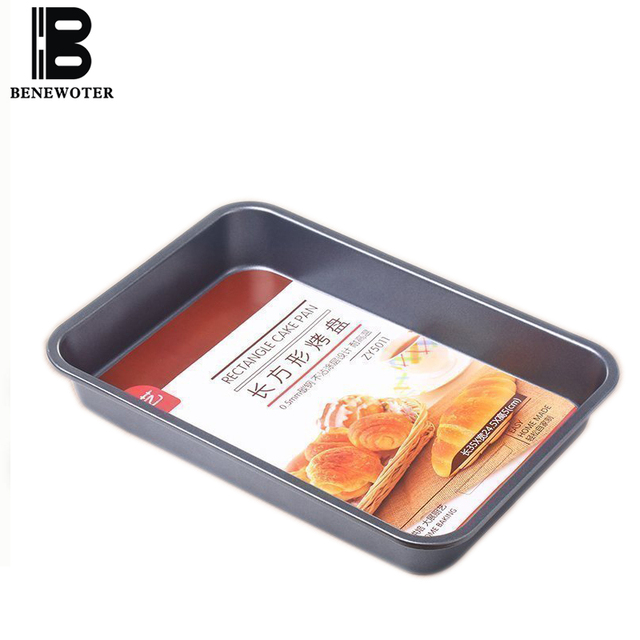 Carbon Steel Rectangular Baking Pan Not-Stick Cake Mold Pizza Pan for Baking Wedding Cake Pizza Pie Bread Loaf Baking Tool Pan