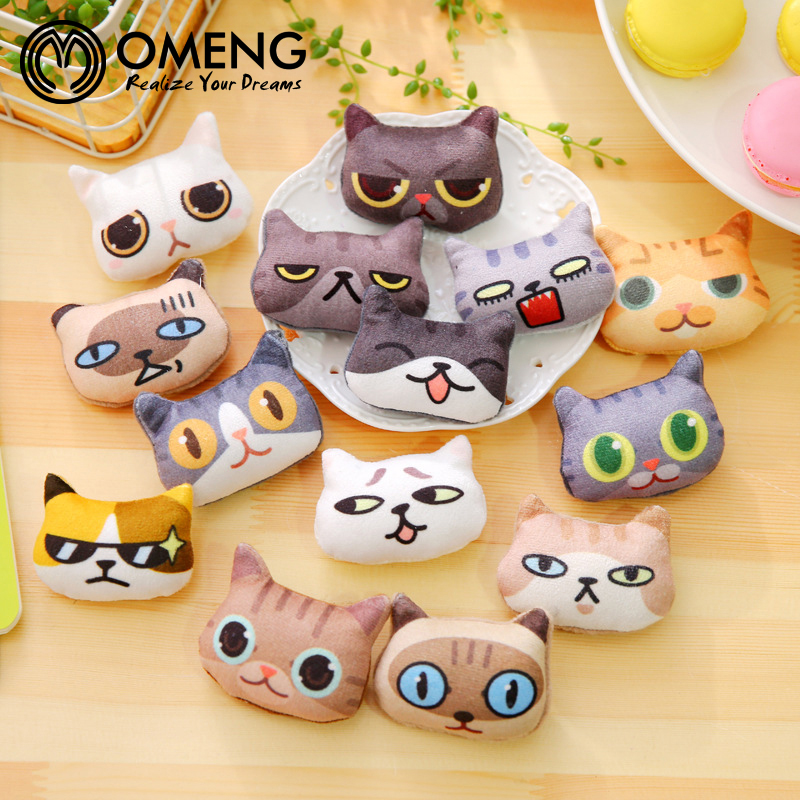 OMENG Cat Funny Expression Dimensional Cat Face Brooch Pins,Fashion Jewelry Free shipping OXZ119