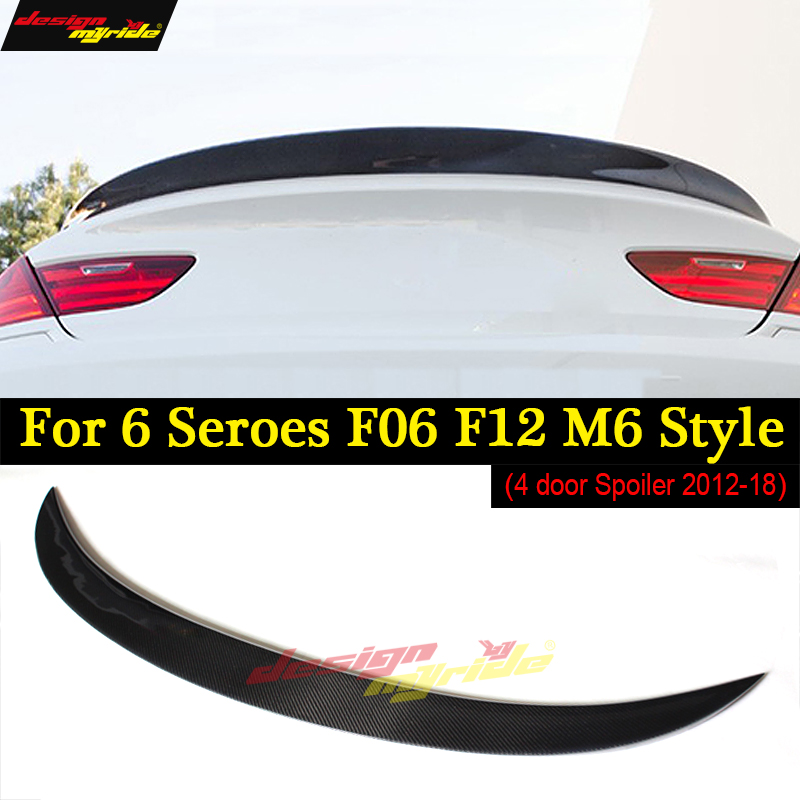 F06 F12 Rear Spoiler Wing M6 Style Carbon Convertible for BMW 640i 650i 2012-in