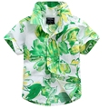 2016 new arrival cotton 100% floral shirt hawaiian shirt aloha shirt for boy T1534