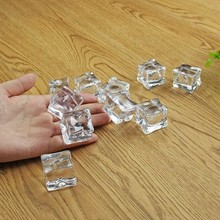 100pcs/lot Wholesale Photography Props Reusable Simulate Ice Cubes Acrylic Fake Crystal fit for Beer Whisky Drinks Wedding Bar