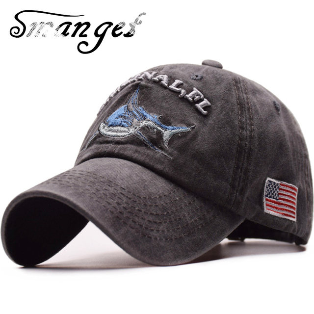 SMANGET Retro Washed Shark Baseball Cap Shark USA Flag Embroidery Snapback  Hats ORIGINAL Letters Sports Cap 229389b039c