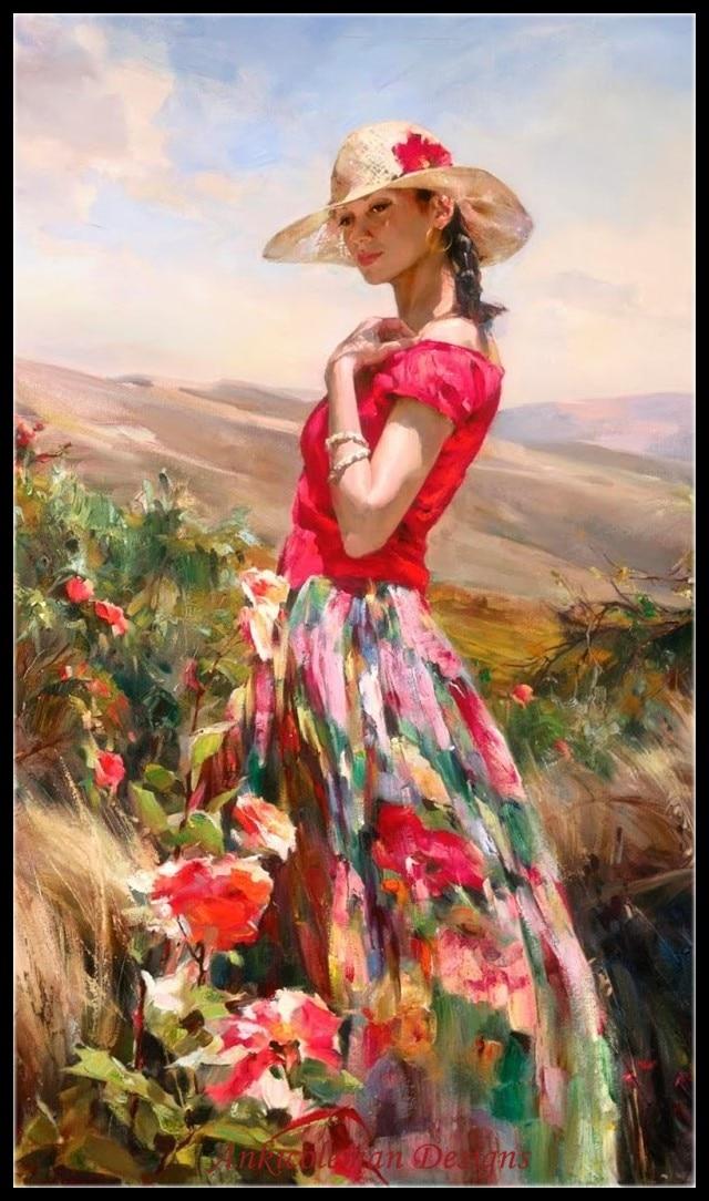 Открытки, открытки женщина лето