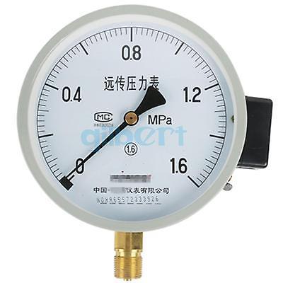 YTZ-150 150mm 0.1-16Mpa Resistance Remote Pressure Gauge Dial Diam Radial Mount Pneumatic y 150 150mm radial mount 0 1 25mpa air compressor pressure gauge dial diam pneumatic