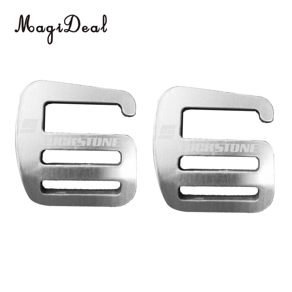 MagiDeal 2 Pieces 1 inch G Hook Webbing Buckle for Backpack Strap Webbing 25mm Silver цена