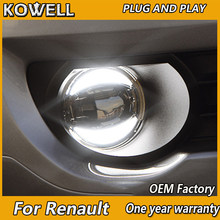 KOWELL Car Styling Fog Lamp for Renault Megane LAGUNA Koleos Fluence LED Fog Light Auto Fog Lamp LED DRL 2 function model(China)