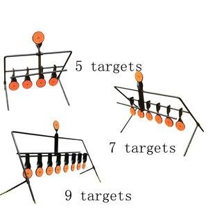 Image 2 - الرماية في الهواء الطلق 5/7/9 إعادة تعيين الهدف الدائري الألوان AirSoft BB الرصاص اطلاق النار الهدف تطبيق الهدف