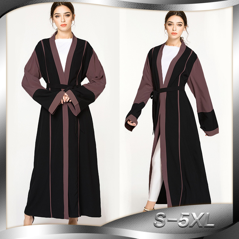 Large size group fashion splicing Islamic Muslim female robe Middle East New Dubai specifically for cardigans