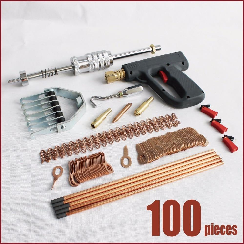 auto body repair tools spot welder stud welding kit uni spotter deluxe starter kit dent puller slide hammer gun pulling claw