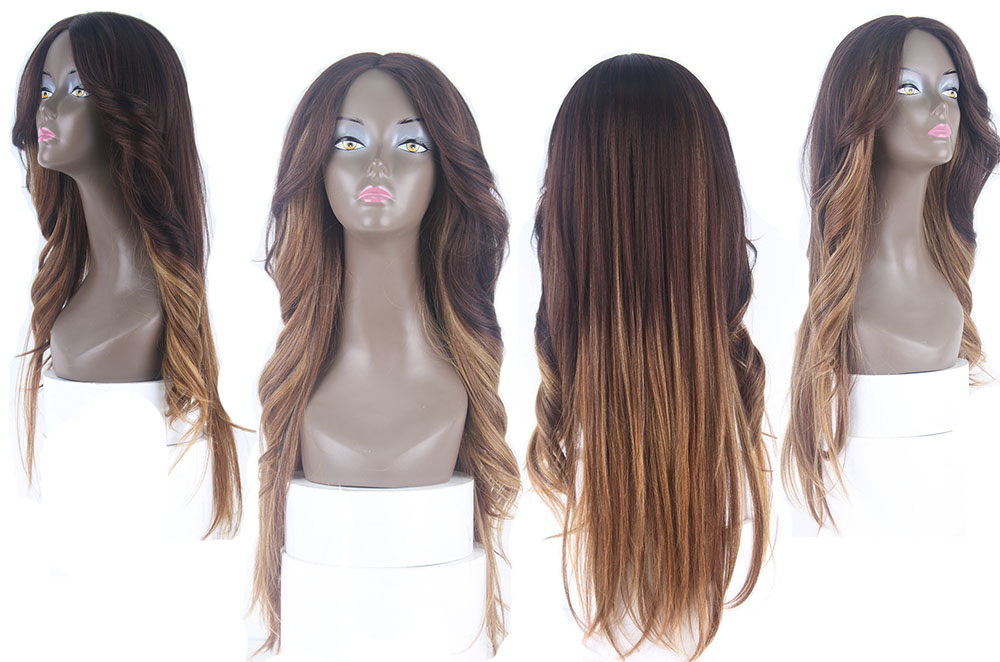 lace wig mix brown