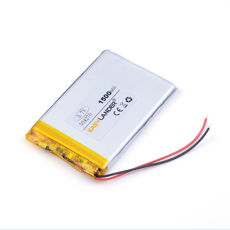 Free shipping <font><b>3.7</b></font> <font><b>V</b></font> lithium polymer battery 1500 mah interphone 504270 GPS vehicle traveling data recorder Game Playmer image
