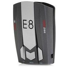 E8 Inglês e Russo Voz Prompt de 360 Graus Banda Completa Digitalização Radar Detector de Segurança para a Condução de Carro