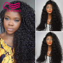Full Lace Human Hair Wigs Brazilian Virgin Hair Kinky Curly Lace Front Wig 10 26inch Hair