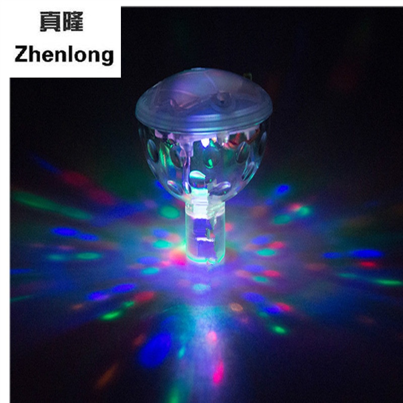 Glowing LED Underwater Fountain Light Show Waterproof Disco Party ...