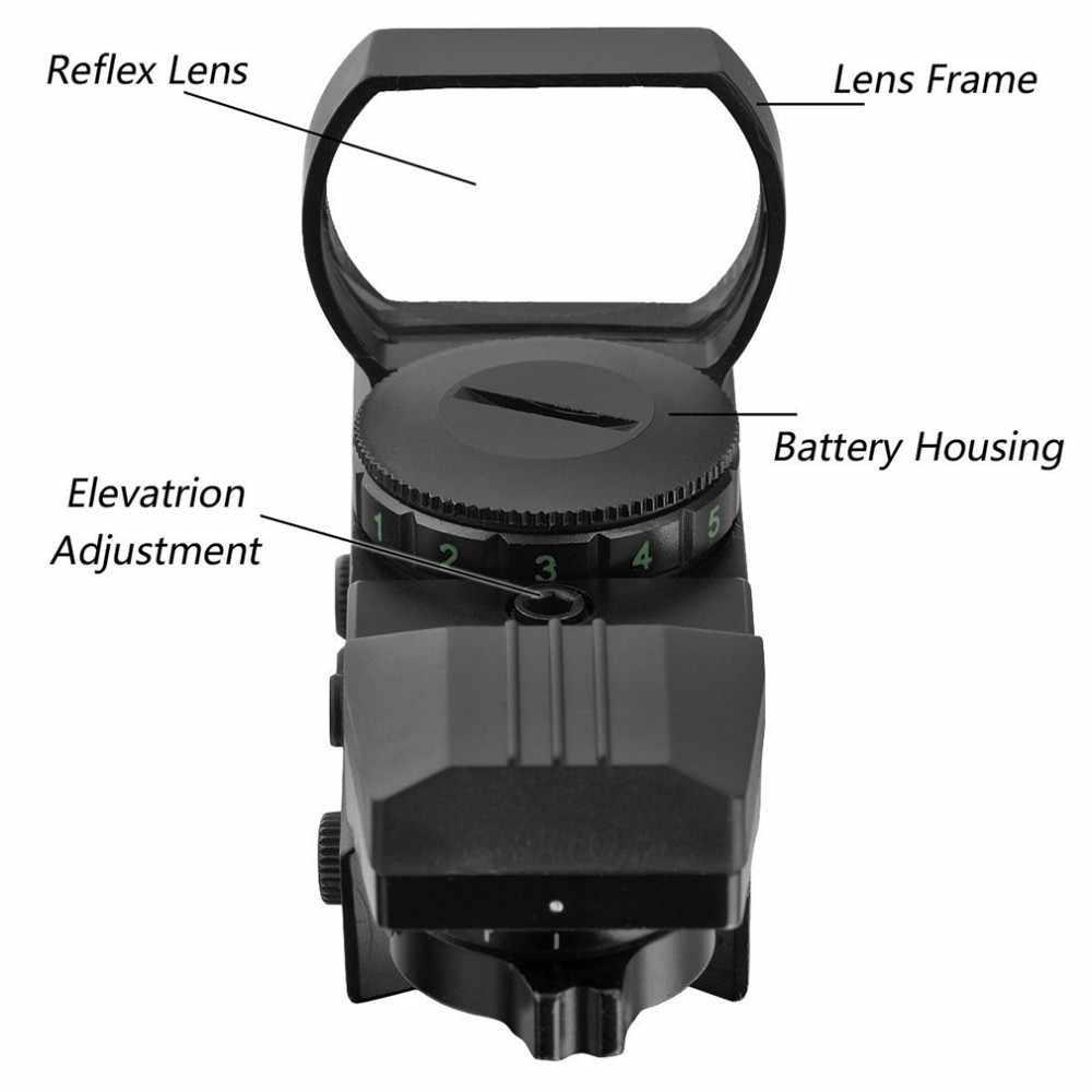 الصيد نطاقات البصريات ريد دوت البصر 20 ملليمتر الحديدية قناص التكتيكية مسدس مشاهد الادسنس البنادق الهواء بندقية نطاقات المجسم ريفلكس
