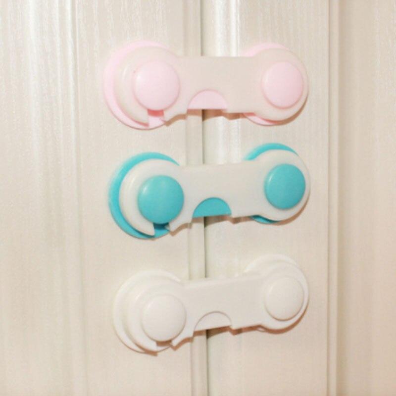 5Pcs/Lot Baby Safety Doors Drawers Wardrobe Safety Locks Toddler Baby Children Protection Safety Plastic Lock Kids Safe Locks