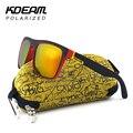 Настоятельно Рекомендуется KDEAM Зеркало Поляризованных Солнцезащитных Очков Мужчины Серфинг Спорт Солнцезащитные Очки Женщин УФ gafas de sol С Арахисовым Случае KD156