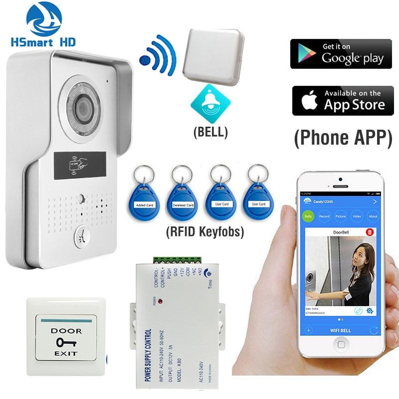imágenes para Nuevo Wireless Wifi 3G 4G Keyfobs RFID POE Cámara Interior Campana Timbre de Intercomunicación Videoportero Impermeable para Smartphone