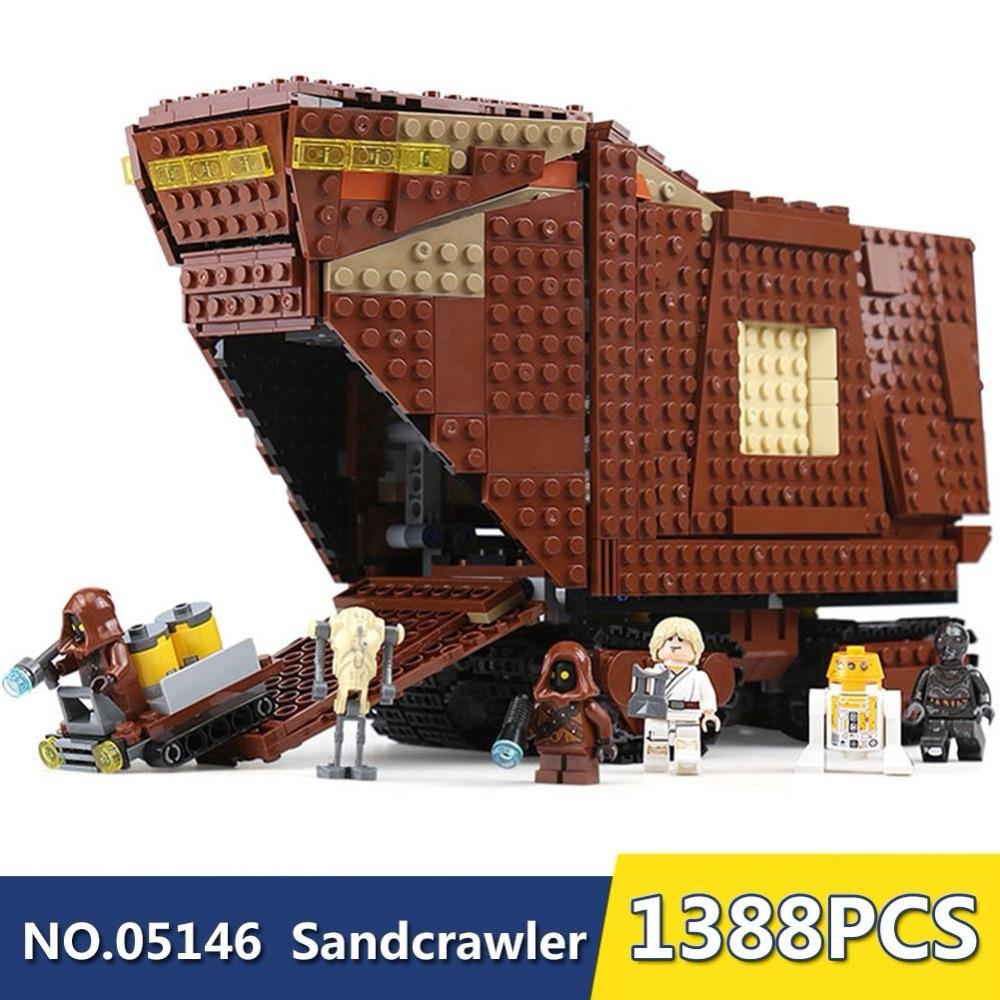 Avec Légèreté Étoiles Guerre Désert Creeper Sandcrawler 05146 blocs de Construction briques jouets éducatifs cadeaux 1388 pièces cadeau pour GARÇONS YY30