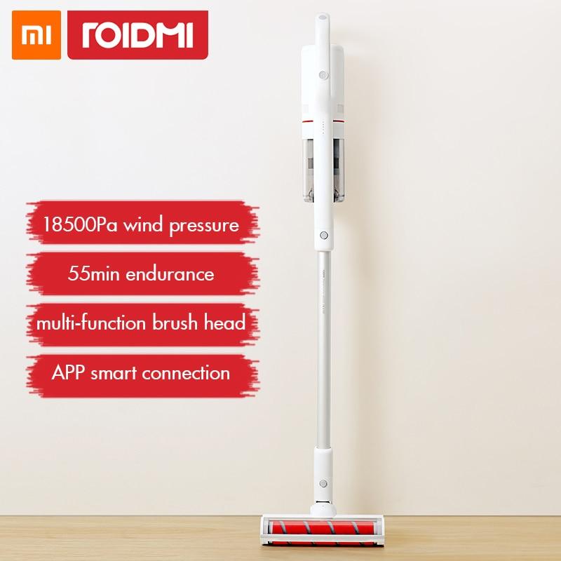 Xiaomi Roidmi F8 Handheld Aspirador de pó Sem Fio para Casa Tapete Ciclone Coletor de pó Filtro Aspirador Bluetooth LEVOU Luz