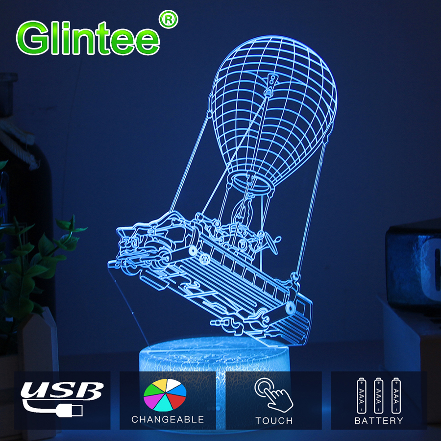 Fortnit battle bus 3D Light chug jug Scar rokter launcher Llama Night Lights Touch LED Lava Lamp Illusion Lighting for Game Fans cool fortnite souvenir 3d illusion lights rgbw acrylic led night lamp touch table christmas holiday gifts rocket launcher light