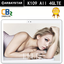 Carbaystar k109 4g lte android 6.0 10.1 pulgadas tablet pc mt8752 Octa Core 4 GB RAM 64 GB ROM 5MP IPS Tabletas de piezas de Oro, Plata