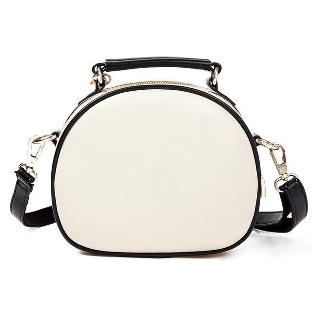 Vogue Star 2017 Cat Printing Bag Ladies Crossbody Bags Circle Women Leather Handbags with Fur Ball Women Messenger Bag  LS499