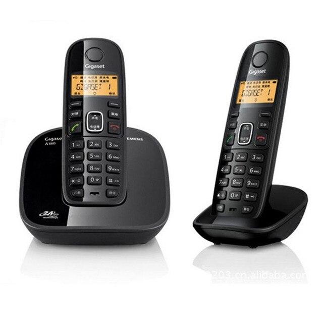 2 шт. Телефонов Аон Телефоны DECT Цифровой Беспроводной Телефон Для Рабочего База Телефон Цифровой Беспроводной Телефон Для Домашнего Офиса Черный