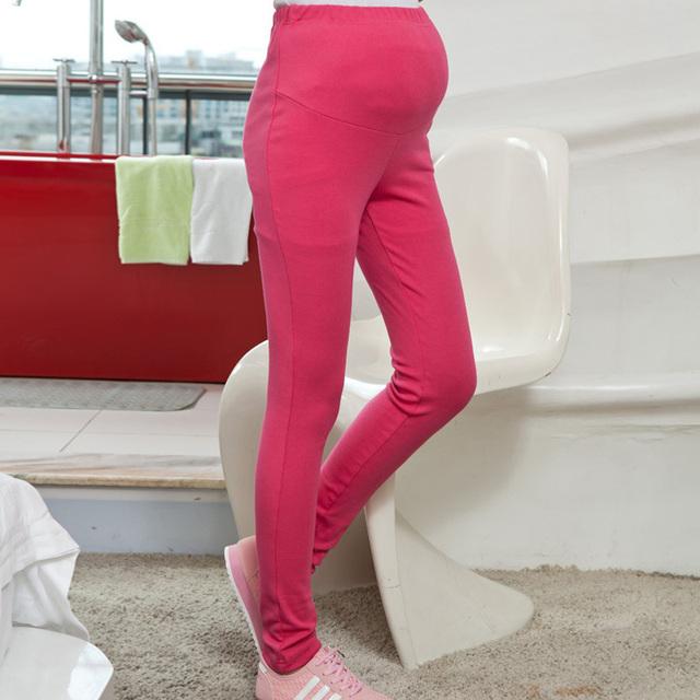 Leggings maternidade calças roupas para mulheres grávidas gravidez cinto de algodão cintura ajustável calças para a primavera e outono