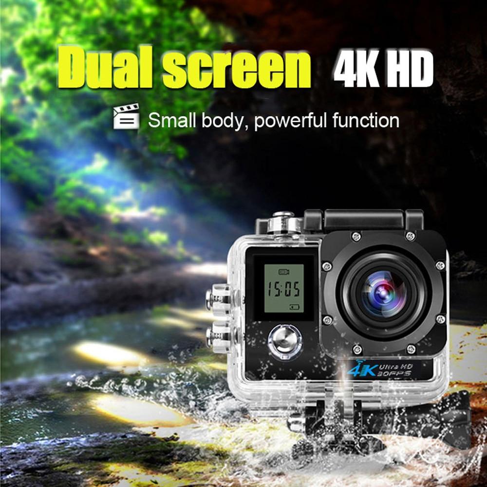 Sports Action Camera DVR Cam Camcorder Waterproof 4K Dual Screen Wifi HD 1080P Sports Action Camera DVR Cam Camcorder Jn.18