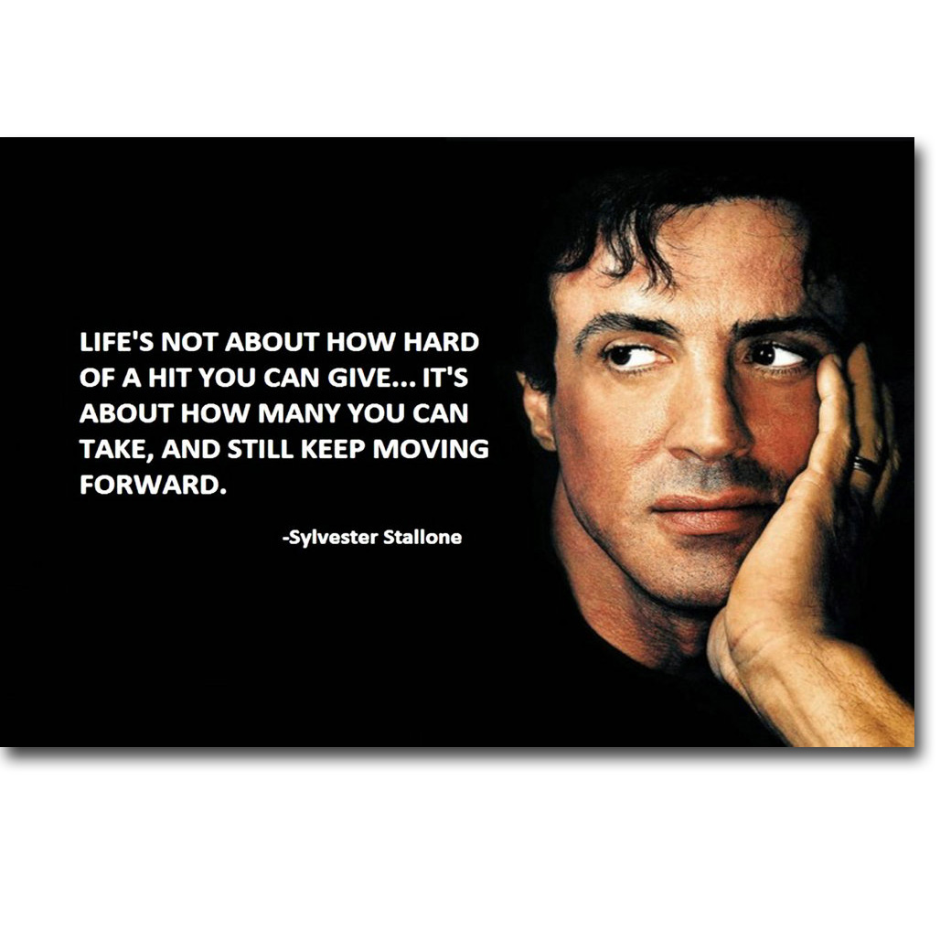 Us 4 91 18 Off Rocky Balboa Motivational Quote Art Silk Poster Print Inspirational Movie Sylvester Stallone Picture For Room Wall Decor 018 In