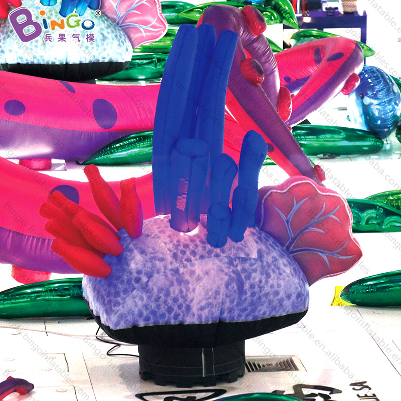 Customized 1.5 meters inflatable seaweed decorative digital printing LED lighting seaweed inflatables for decoration toysCustomized 1.5 meters inflatable seaweed decorative digital printing LED lighting seaweed inflatables for decoration toys