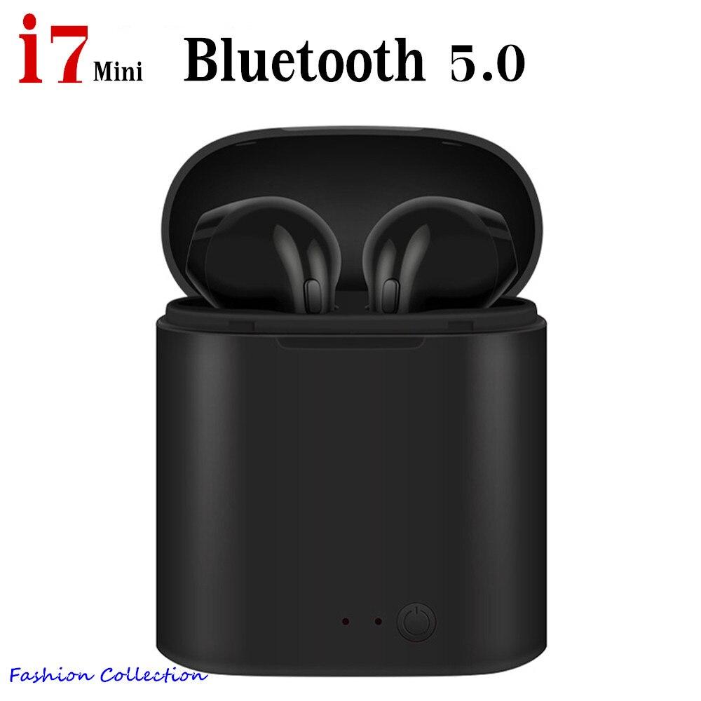 Original i7 tws mini bluetooth earphone wireless headphones with mic for smartphone iphone pk w1 chip lk le9, i20 tws, i30 tws