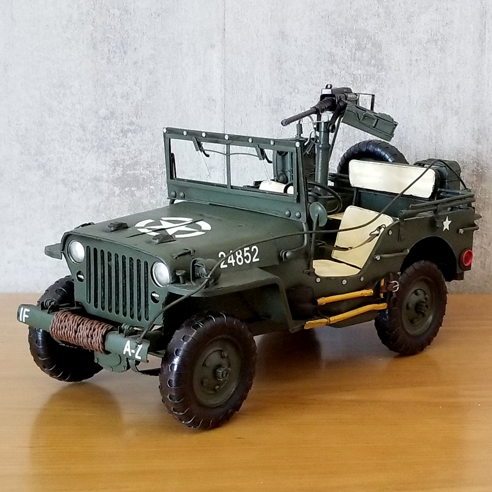 Retro Tin vehicle model 1940 edition handmade Antique Iron gift military vehicles decoration home collection
