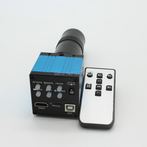 14MP HDMI USB Industrial Microscope Camera With Mouse Operation TF Card Storage Photo Recording 8X-130X C-mount Lens