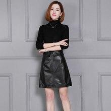 2018 New Fashion Genuine Sheep Leather Skirt K23