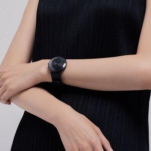 Image 4 - XIAOMI Mi Mijia QUARTZ Smart Watch Life Waterproof with Double Dials Alarm Sport Sensor Pedometer Time Leather Band Mi Home APP