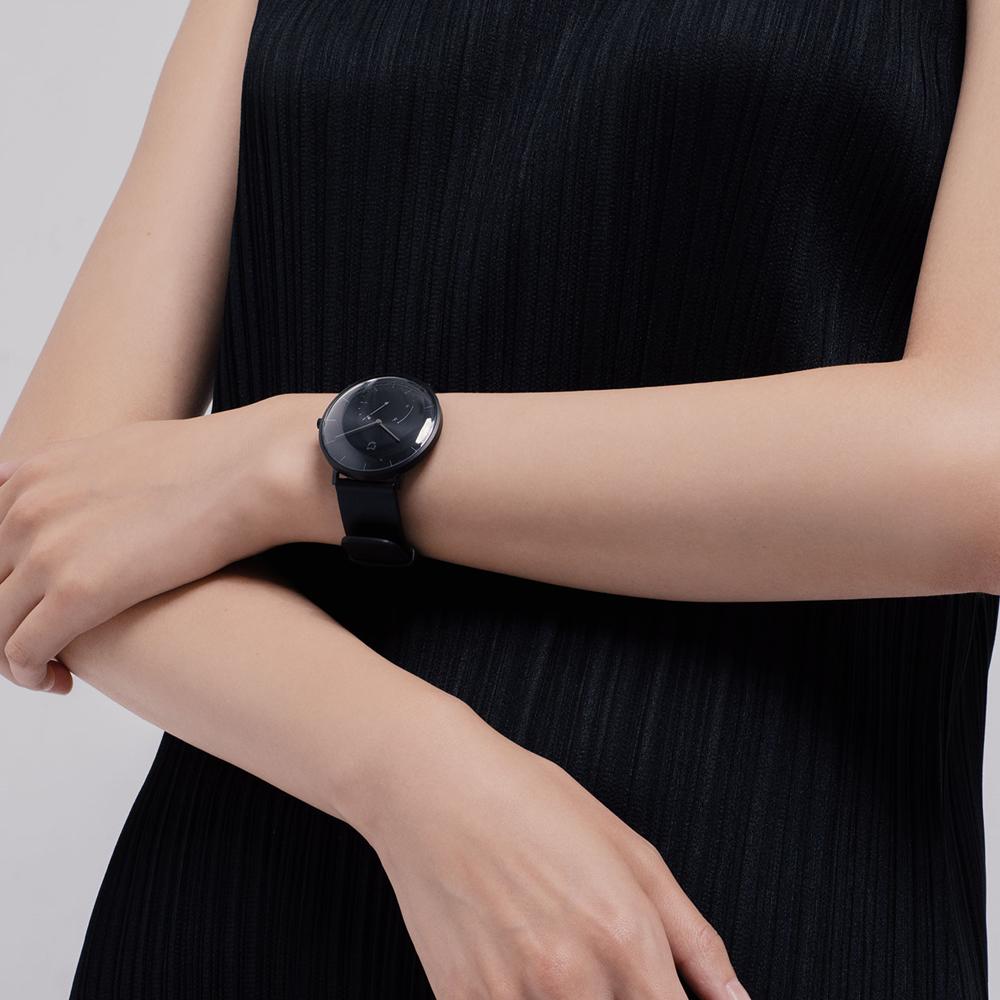 XIAOMI Mi Mijia QUARZ Smart Uhr Leben Wasserdicht mit Doppel Dials Alarm Sport Sensor Schrittzähler Zeit Leder Band Mi Hause APP - 4