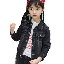 Moda Denim Delle Ragazze Giacche 2018 Autunno 3-13 Anni Cappotti Bambini  Outwear Cappotto Little boy Design Ragazze bambino . 207e4443025