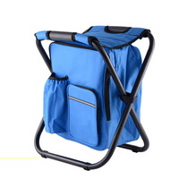 Folding Fishing Chair Portable Ice Pack Chair With Insulation Bag Can Be Back Fishing Stool