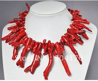 Rare Natural Red Coral Necklace 18Inch African Costume Coral Beads Jewelry 5 Colors Free Shipping CN004