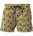 Cute Doge Shorts Mens Funny Shiba Inu Dog Print 3D Short Pants Hipster Emoji doge Beach Shorts Streetwear Board Shorts