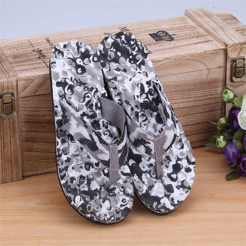 N-men verão camuflagem chinelos sapatos sandálias chinelo indoor & outdoor p # dopship