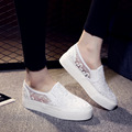 2017 Women Flats Female Shoes Loafers Cute Casual Ballet Dance Solid black Elastic Retro Fashion espadrilles white calzado mujer