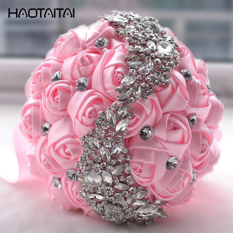 Prices Of Wedding Flowers: Bridal Bouquet Best Price Satin Ribbon Rose Flower Wedding