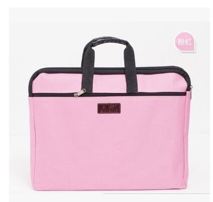 Zipper Oxford Cloth Paper Folder For Document A4 Portable Double Layer Fillings Computer Holder Filling Office Bag