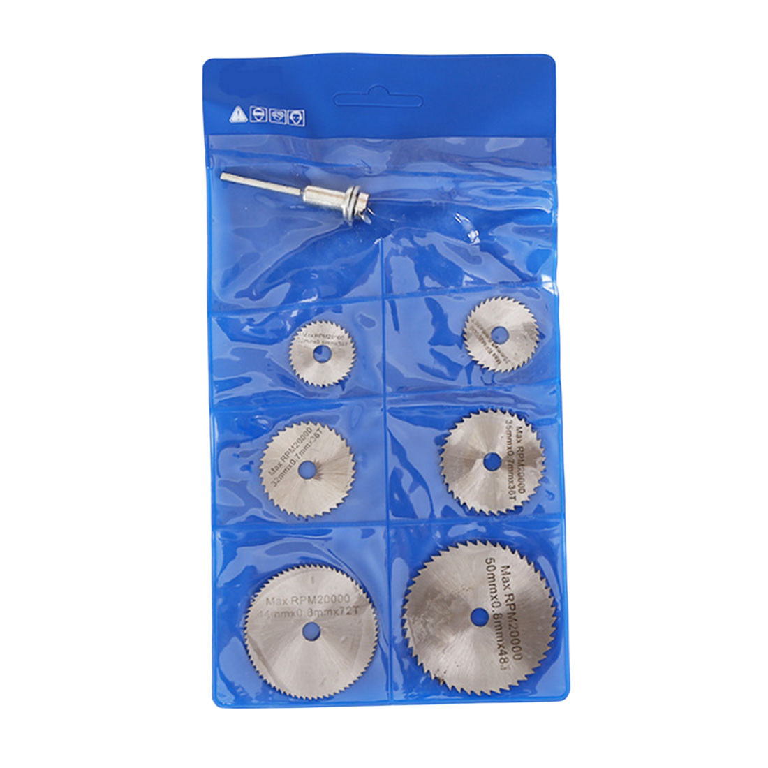 6PCS HSS Rotary Tool 22 /25 /32 /35 /44 /50mm Circular Saw Blades Cutting Discs Mandrel For Dremel Cut Off