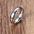 Mprainbow mens anillos de múltiples facetas tungsten carburo de compromiso alianzas de boda para los hombres anillo de plata cut rómbico anel masculino